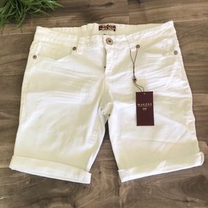 MAKERS OF TRUE ORIGINALS white bermuda shorts -NEW